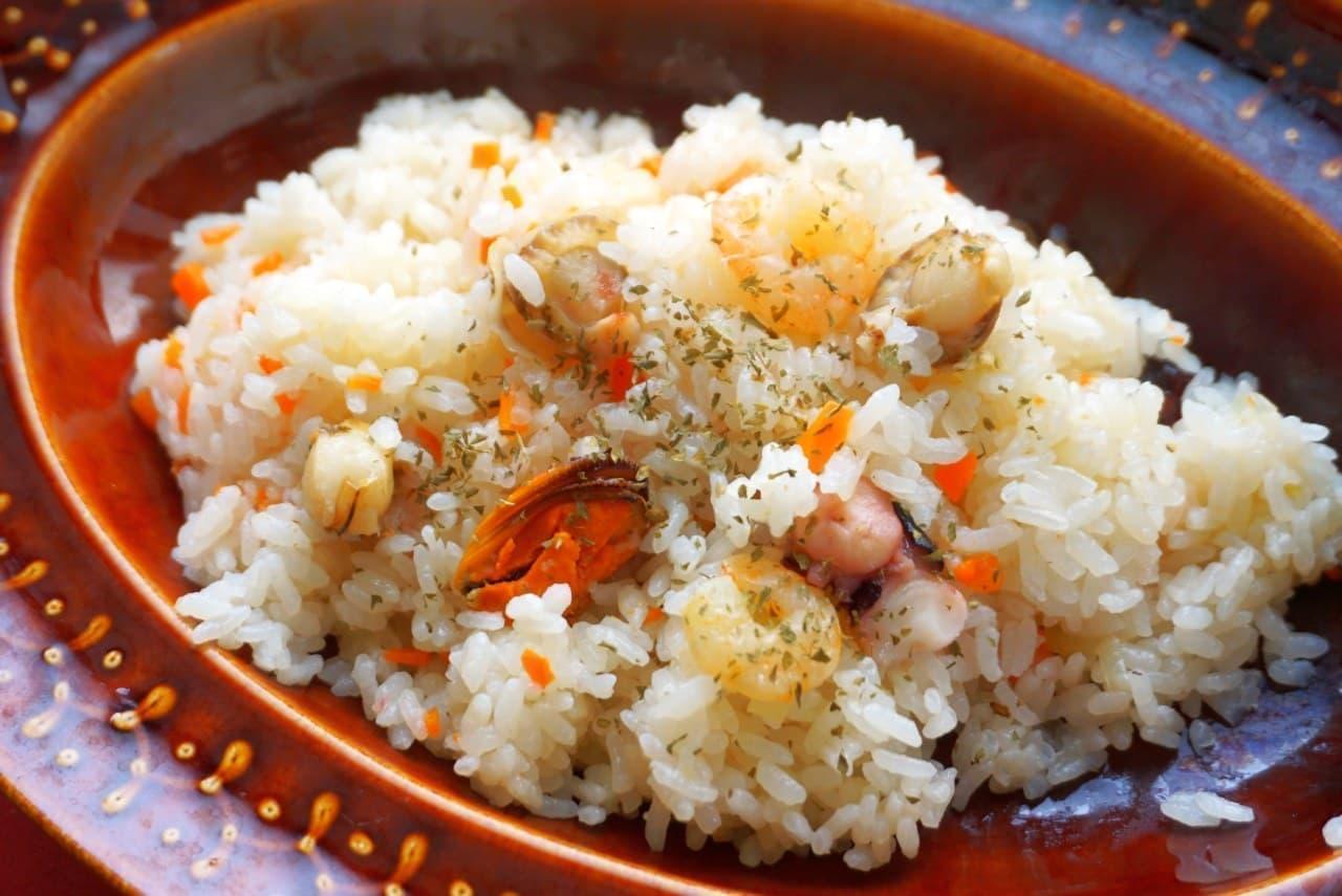 炊飯器シーフードピラフレシピ