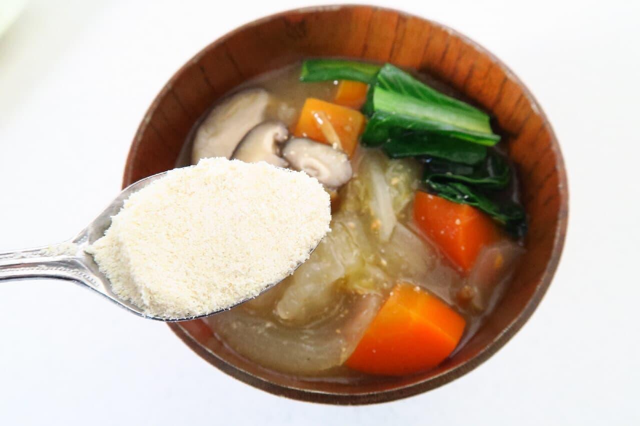 ダイエットの味方♪ おからパウダー活用法3つ -- みそ汁やヨーグルトに混ぜて