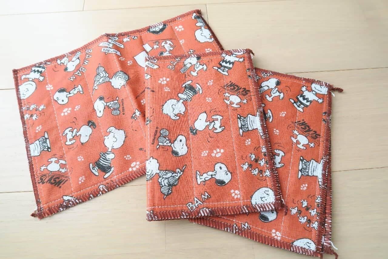【100均】スヌーピーの可愛いランチバッグ♪ 布巾・メラミンスポンジも