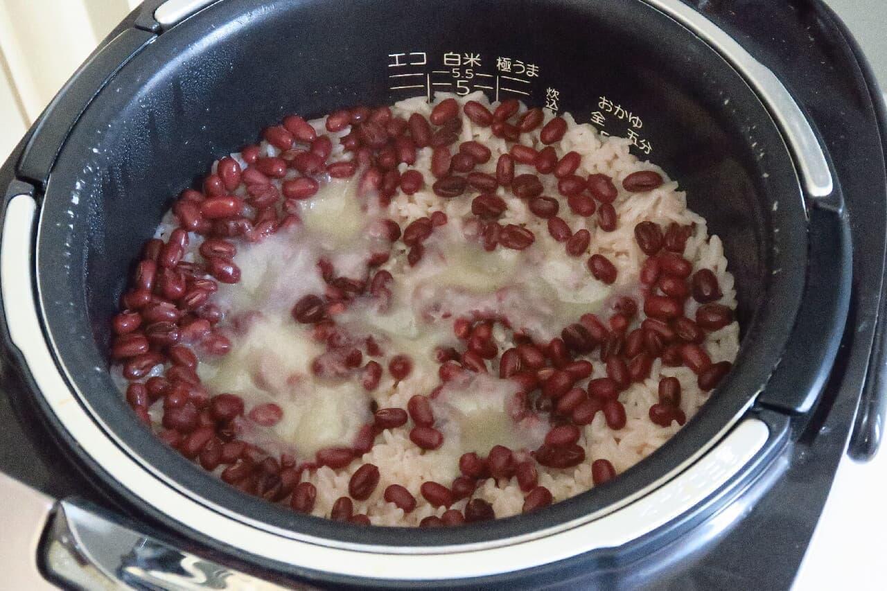余ったお餅アレンジ!もちもち赤飯の簡単レシピ -- いつもの白米でOK