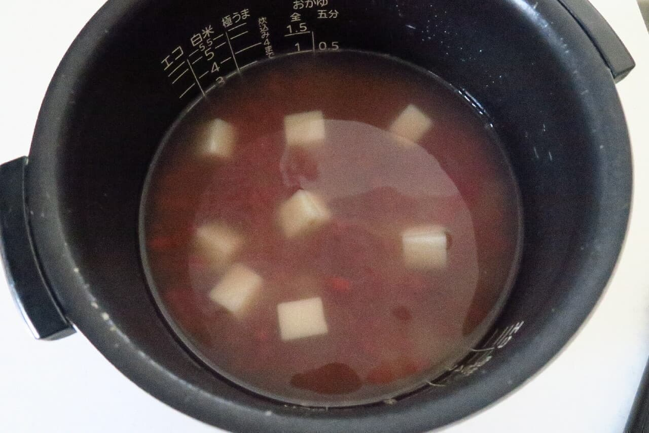 簡単お赤飯のレシピ