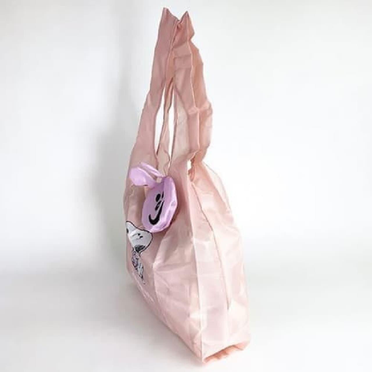 収納袋つき♪ スヌーピー柄エコバッグ -- 軽量・丈夫なマチ広タイプ