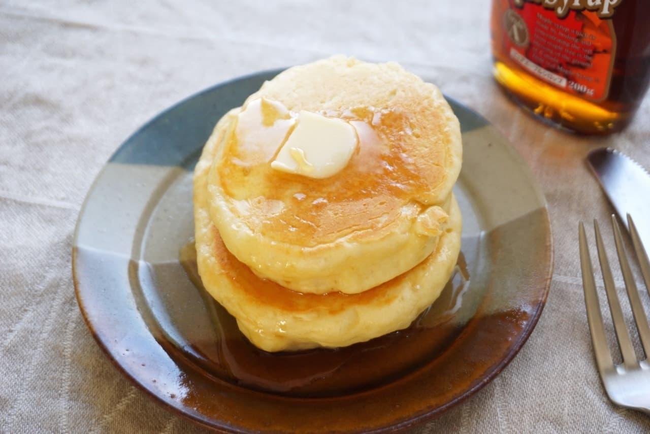 餅入りホットケーキレシピ