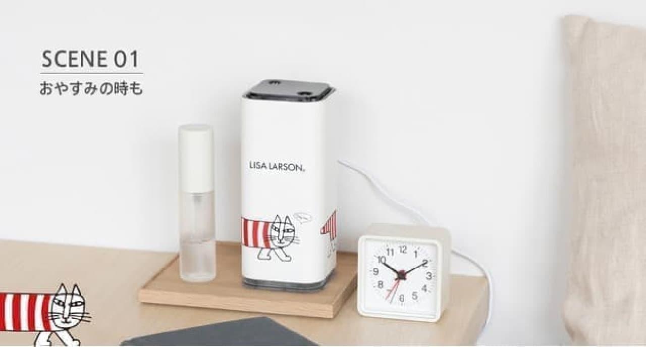 可愛いマイキー柄!リサ・ラーソンのコンパクト加湿器 -- 最大約8時間運転・安全機能も