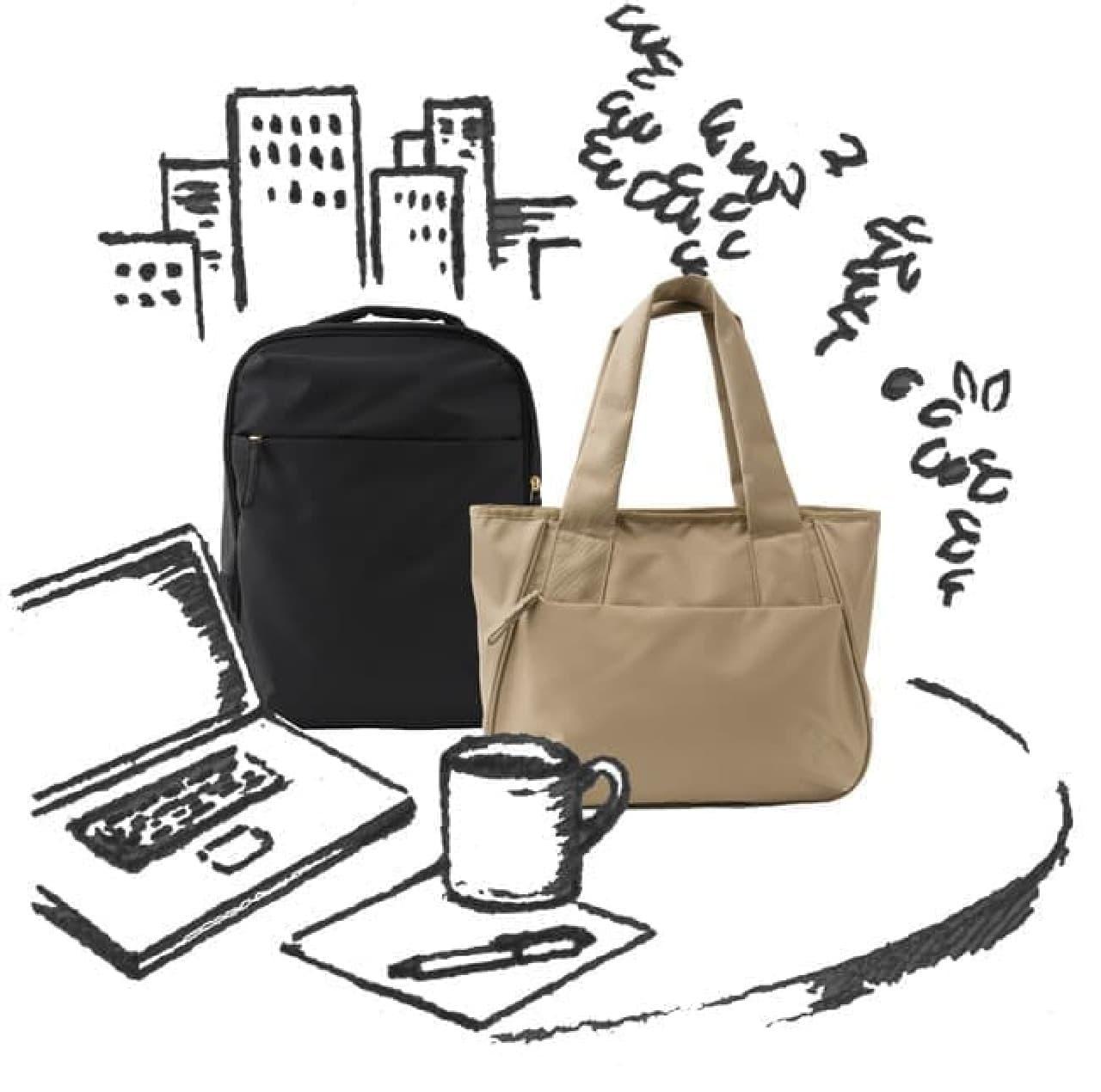 PC持ち運びに♪ Afternoon Tea LIVINGのリュック&トートバッグ -- エースと共同開発