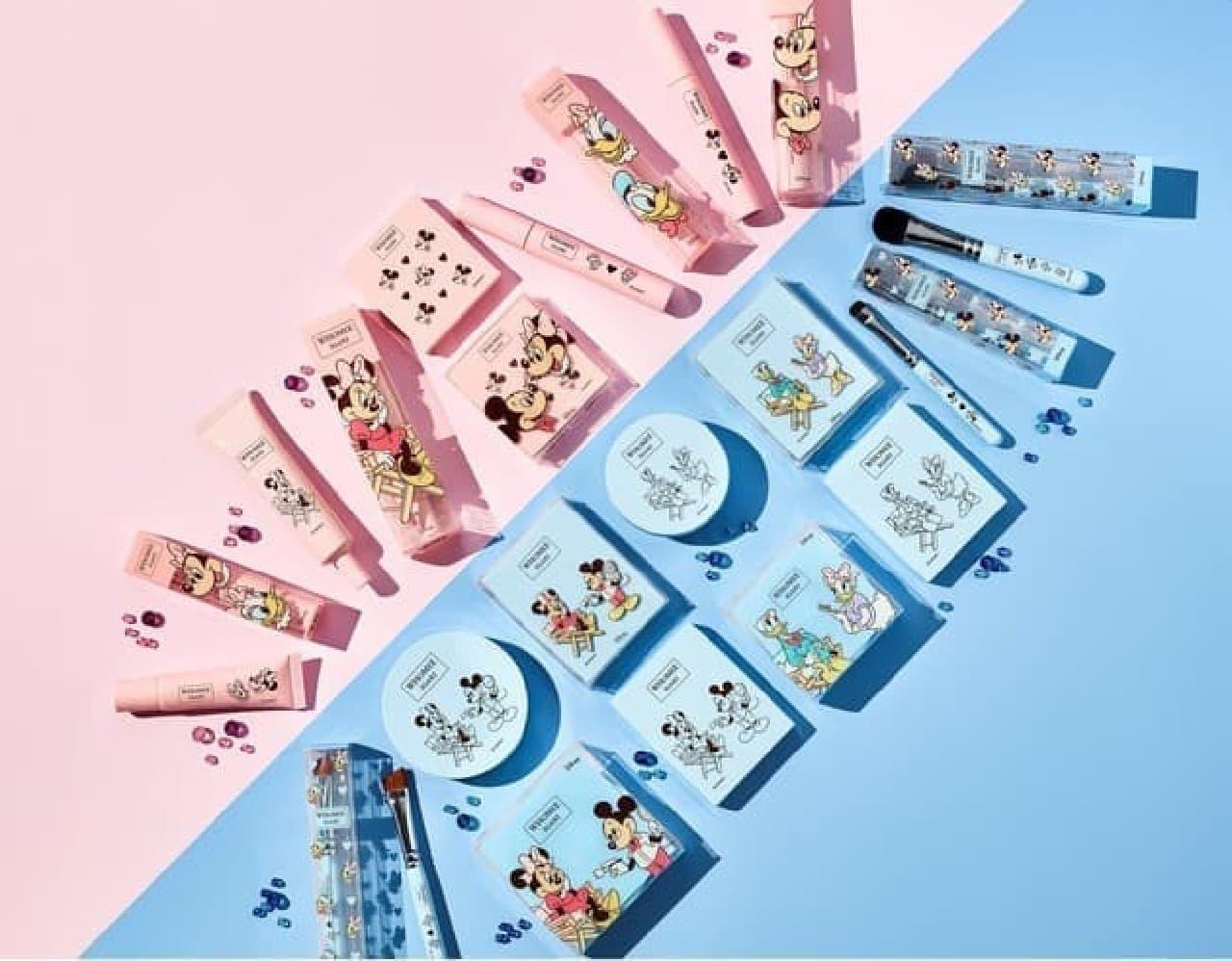 ディズニー×WHOMEEコラボの第2弾!可愛いピンク&ブルーのコスメ