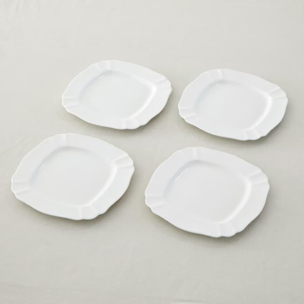 栗原はるみさんの「ボーンチャイナ」特別セット -- シンプル&華やかな洋食器