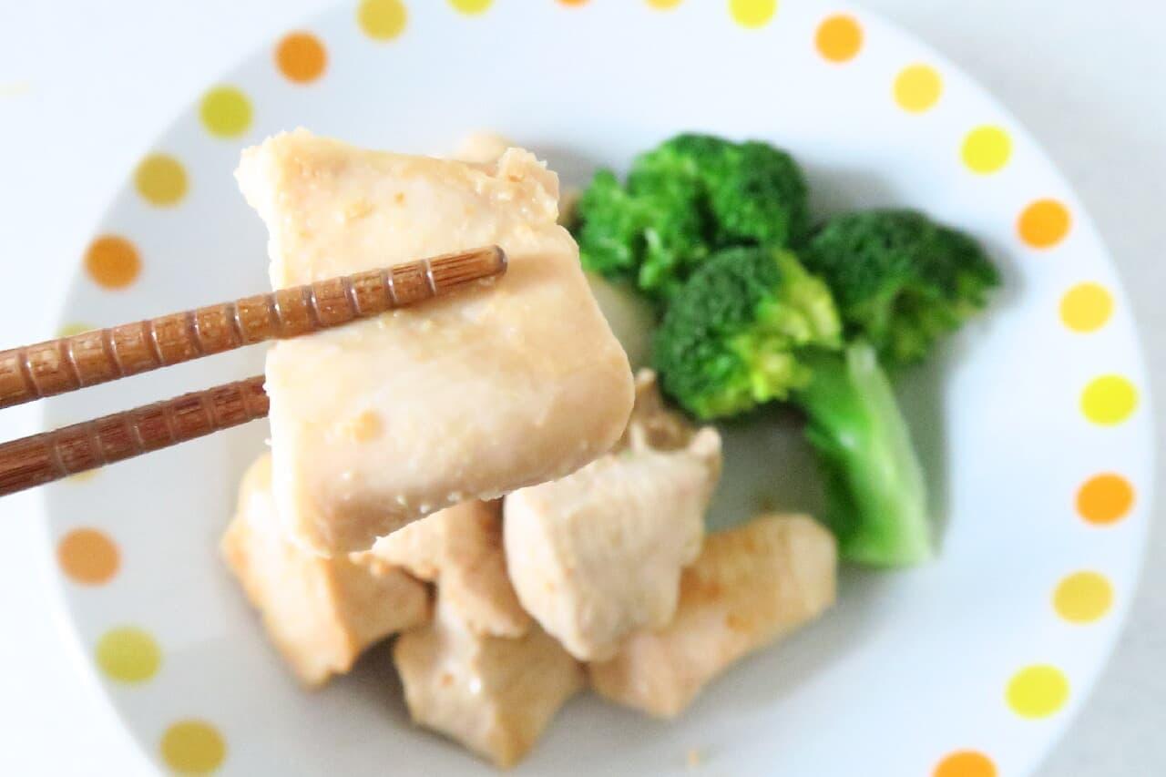 鶏むね肉の味噌マヨ漬け -- 下味冷凍で簡単調理