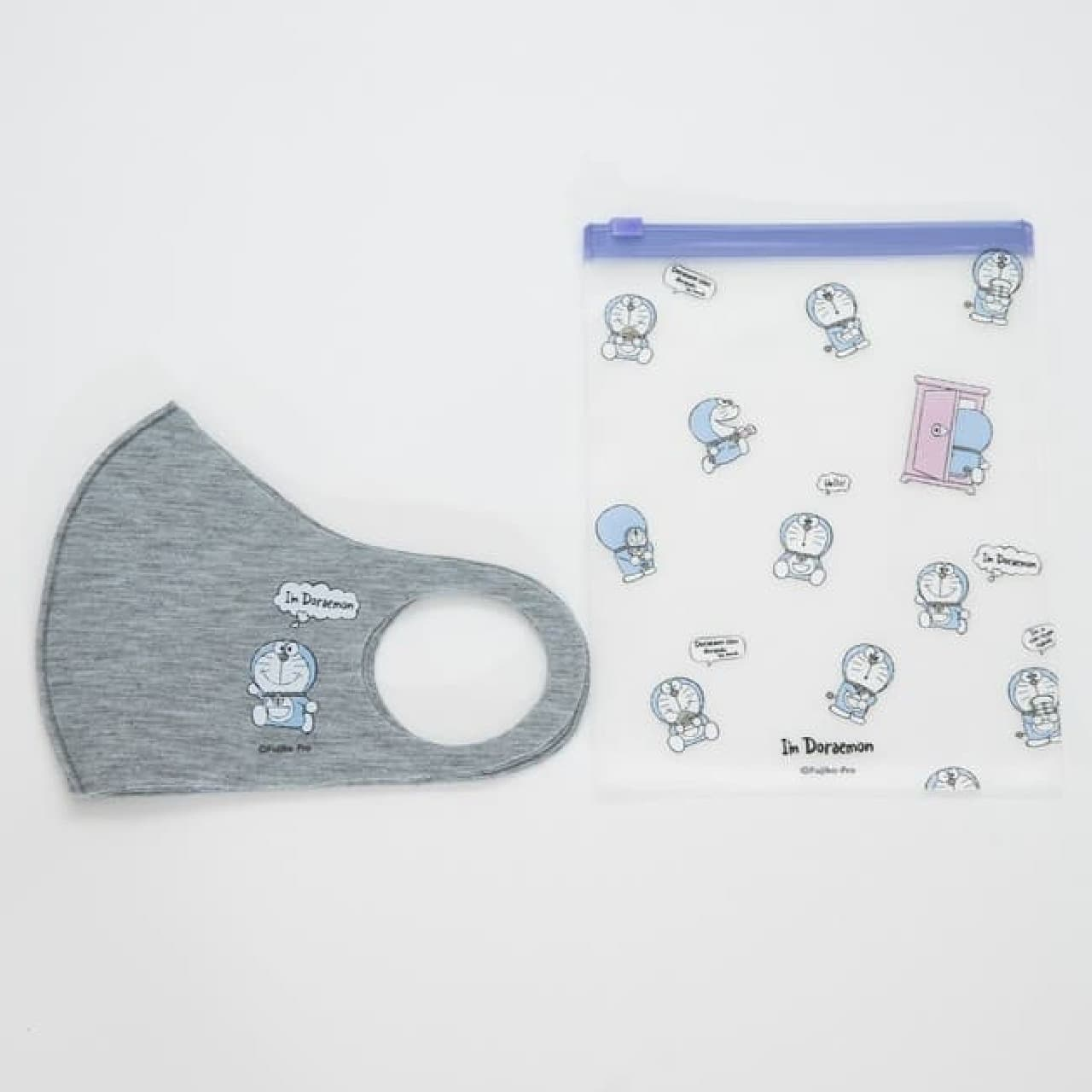 ドラえもんのマスク&抗菌ポーチセット -- 軽いつけ心地&可愛いワンポイント