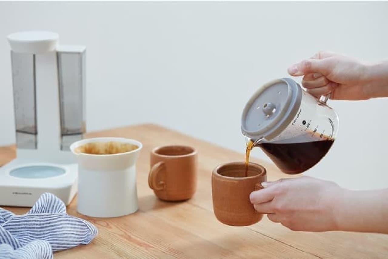 レコルト「レインドリップコーヒーメーカー」発売 -- ムラなく抽出&心地よいアロマ