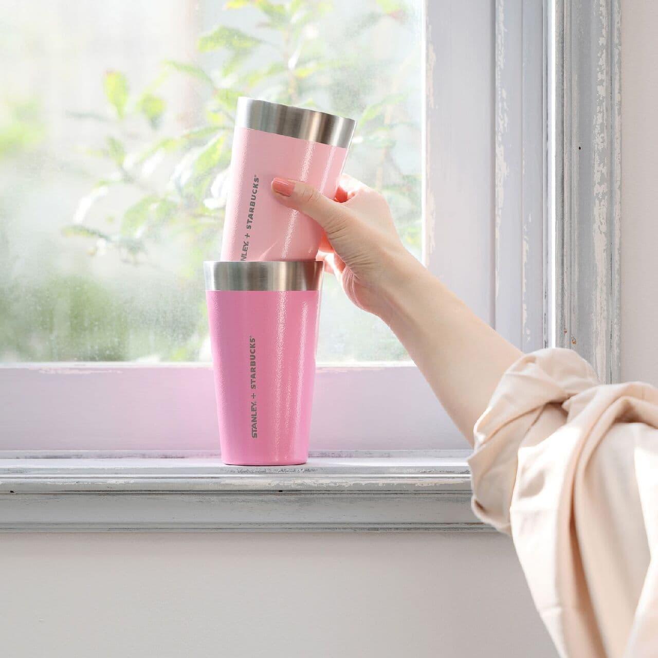 桜ピンク色「スタンレー・ スターバックス エディション」ステンレスボトル・カップなど