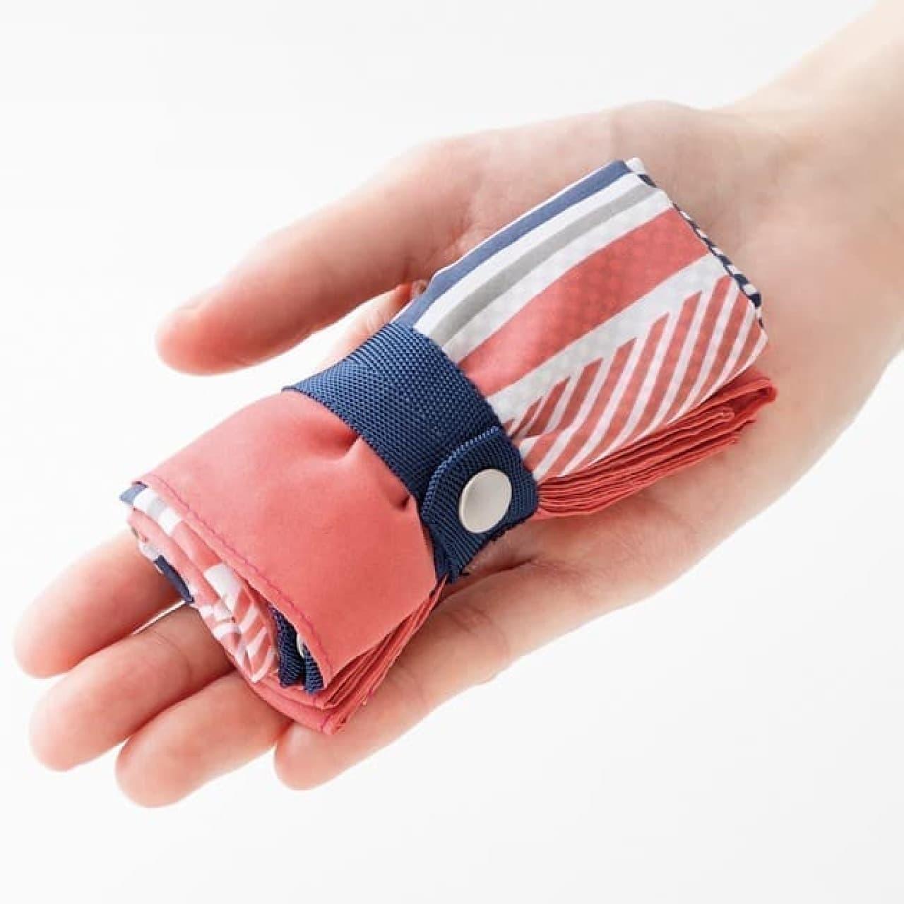 新作はストライプ♪ フェリシモ「スカーフエコバッグ」バッグに結んでおしゃれに