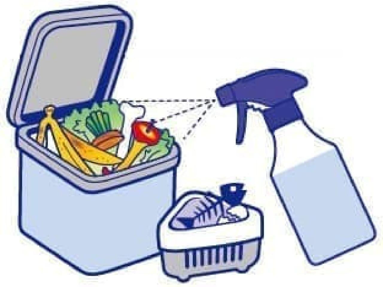 天然由来成分使用「ノンスメル 生ゴミ消臭スプレー」キッチンのニオイをすっきり