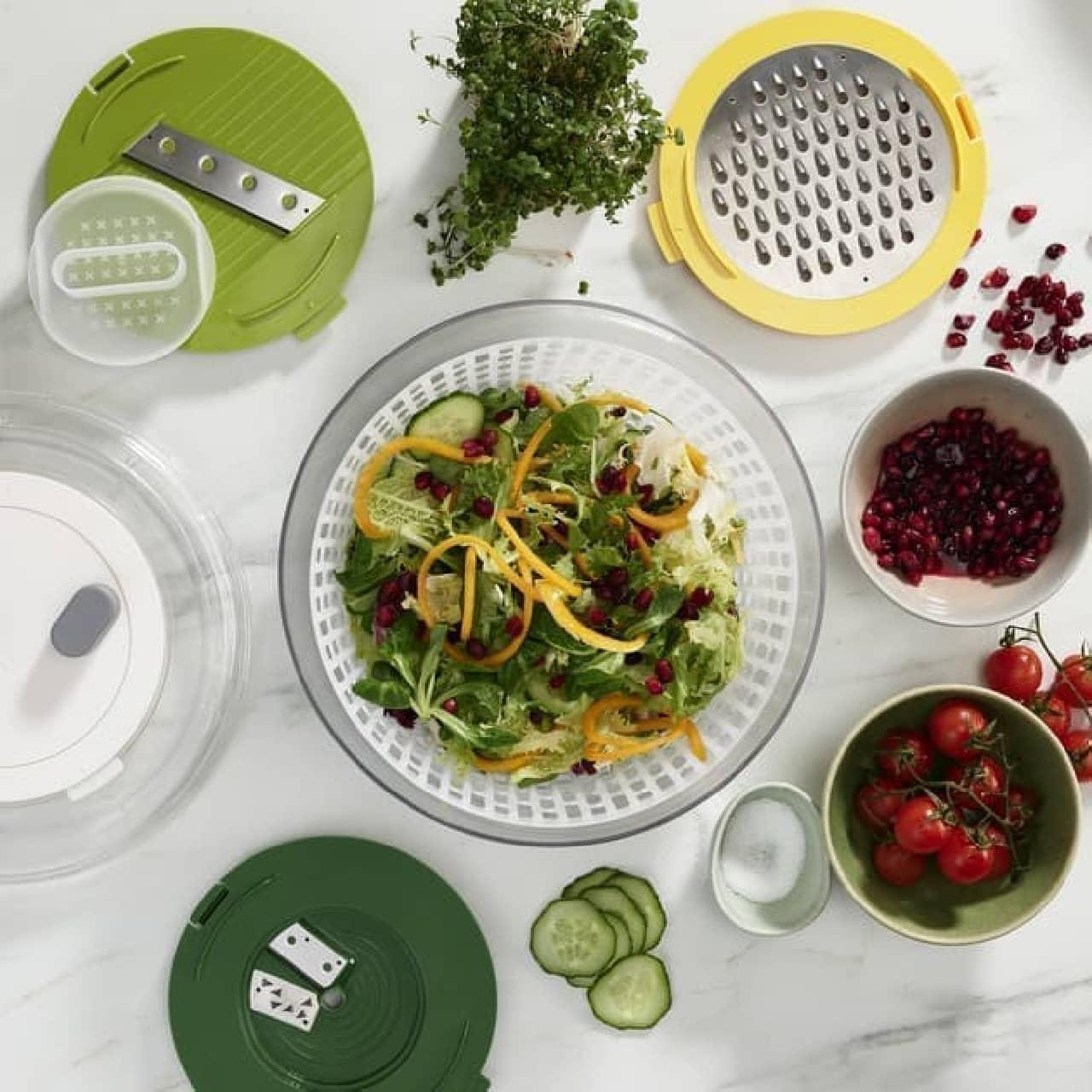 イギリス発「Joseph Joseph」2021年春夏新商品 -- 多機能なサラダ調理器・ダストボックスなど