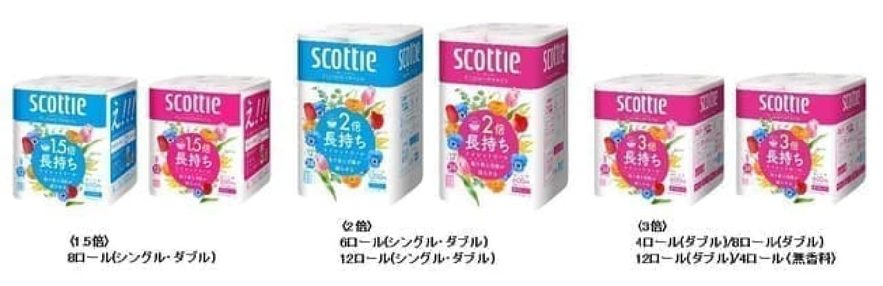 「スコッティ ティシュー フラワーボックス 5箱パック」新デザインに -- 花屋から花を持ち帰るようなワクワク感