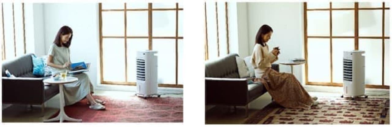 1年中使える「加湿つき温冷風扇」シロカから -- 夏は涼しく&冬は暖かく