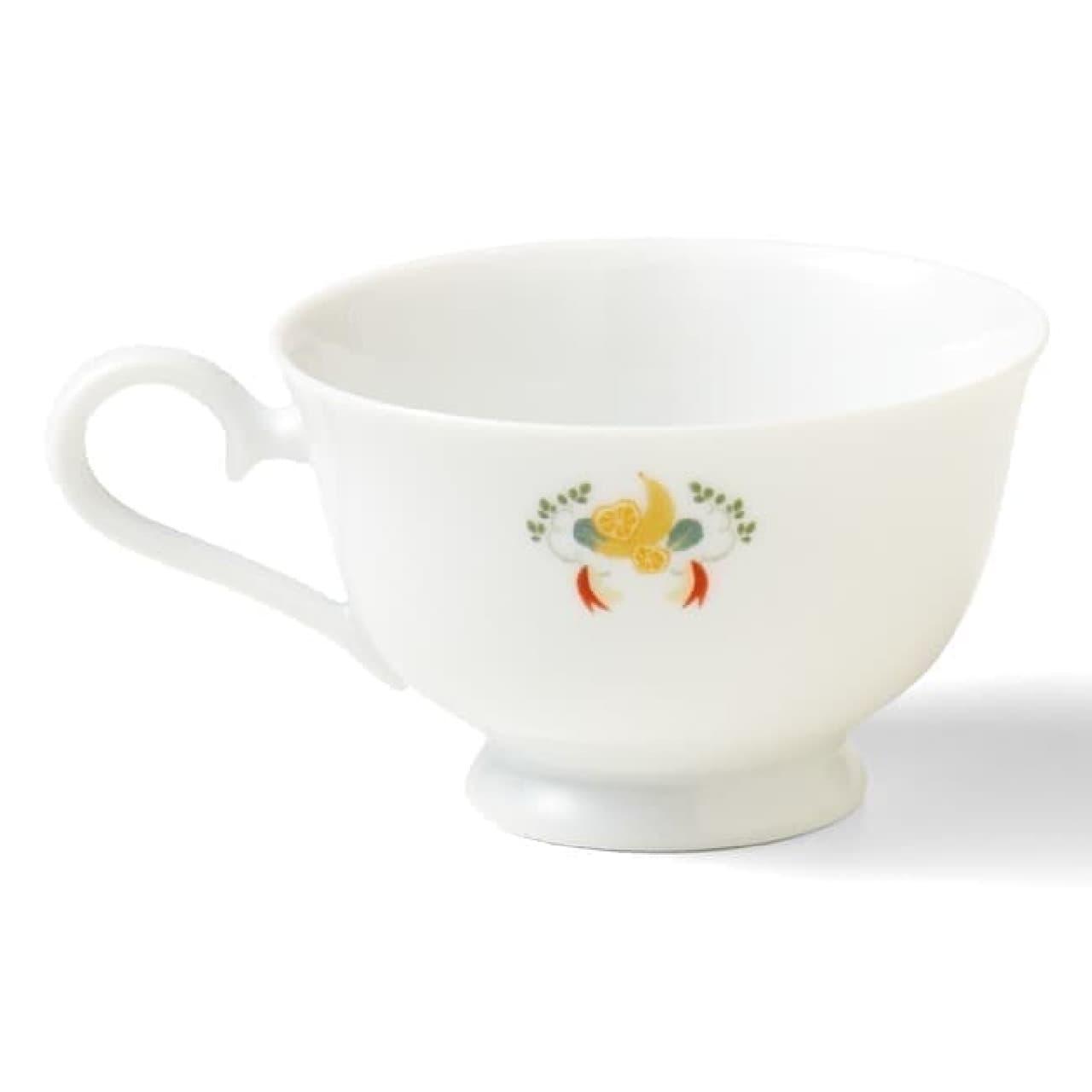 YOU+MORE!「ほっこりお茶会 インコのカップ&ソーサー」色彩豊かなセキセイインコたち
