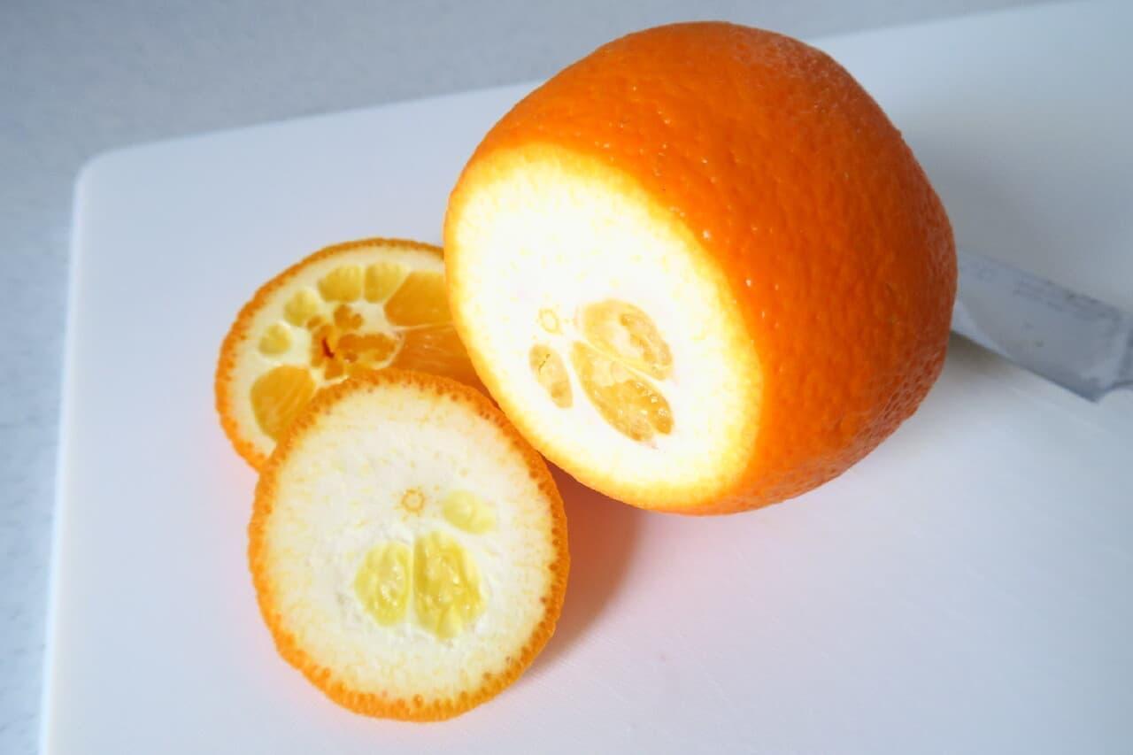 オレンジの皮むき基本編 -- ジューシーな果肉だけを美味しく