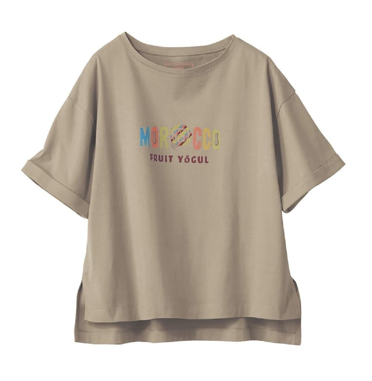 ベルメゾン「駄菓子コラボTシャツ」ウィットナンバーチョコ・モロッコフルーツヨーグルをデザイン