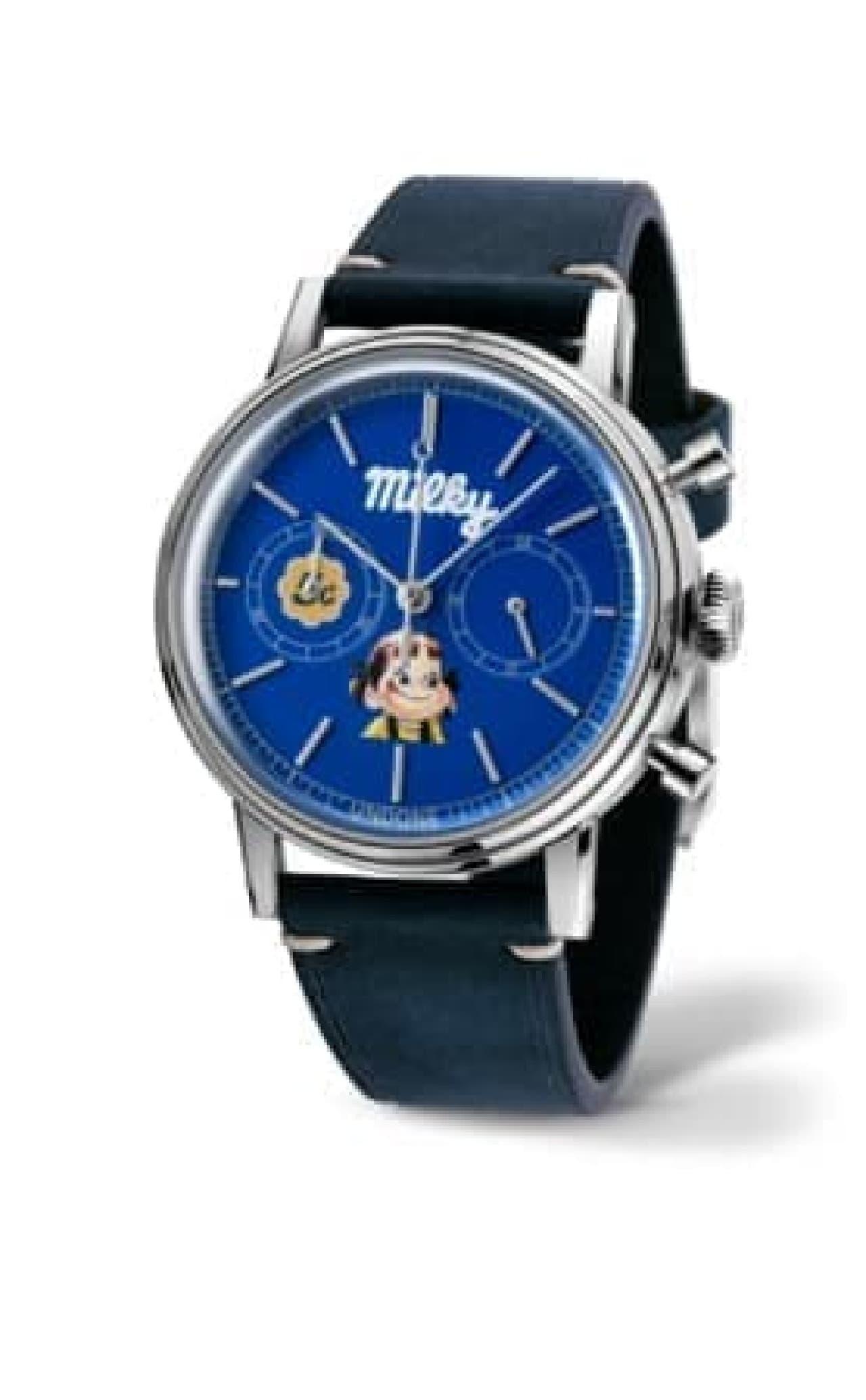 不二家「ミルキー」70周年記念!ペコちゃんコラボ時計がUNDONEから