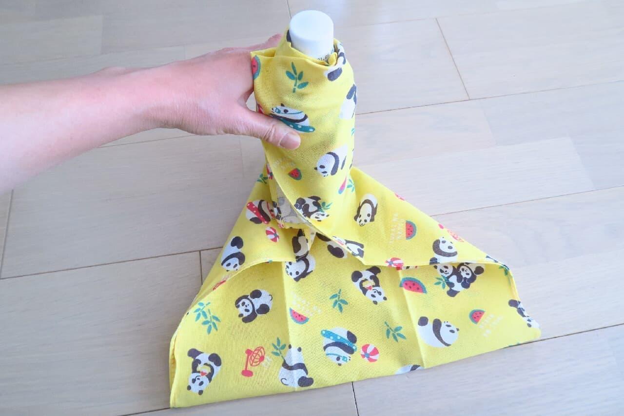 可愛いパンダ柄も!夏を彩る100均「手ぬぐい」ティッシュ箱・ペットボトルカバーに