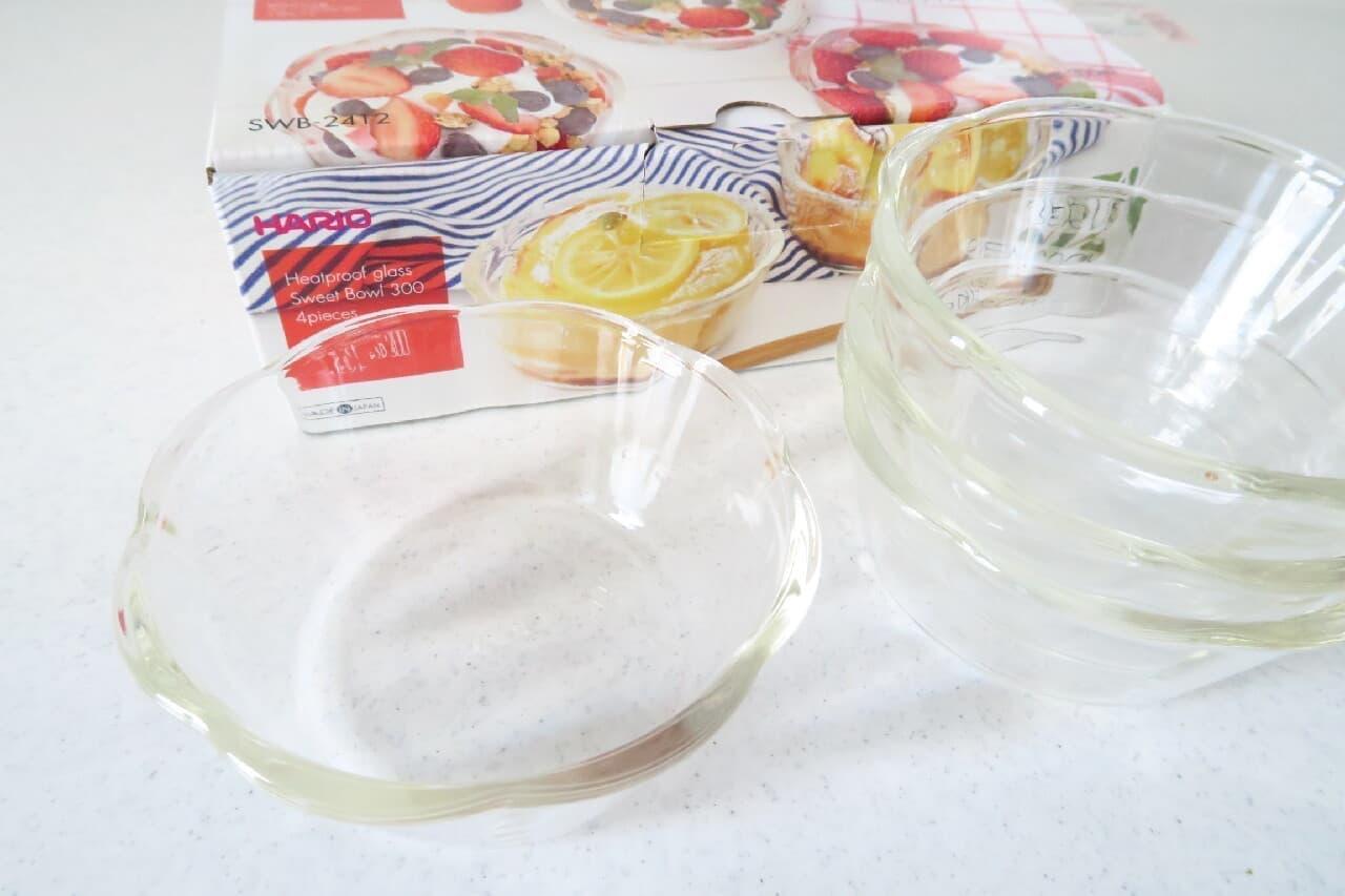 ハリオ 耐熱ガラス製スイーツボウル