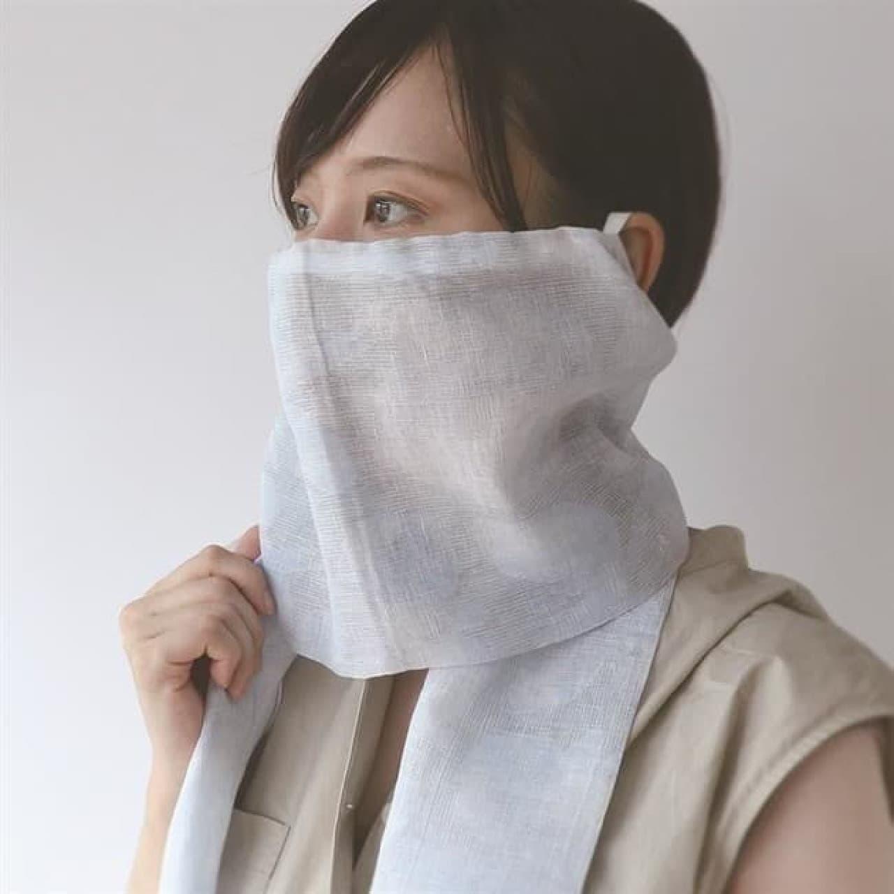 麻ストールマスク