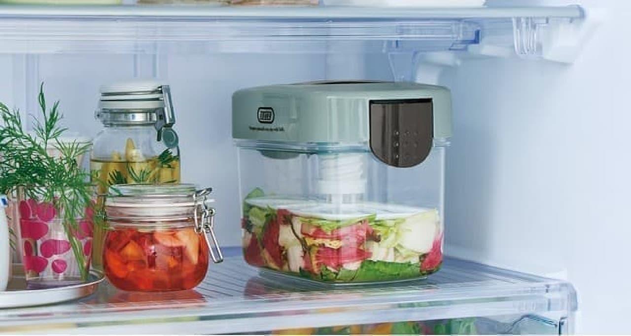 簡単手作り♪ Toffy 漬物メーカー 1.6L登場 -- 冷蔵庫に入れやすいコンパクト設計