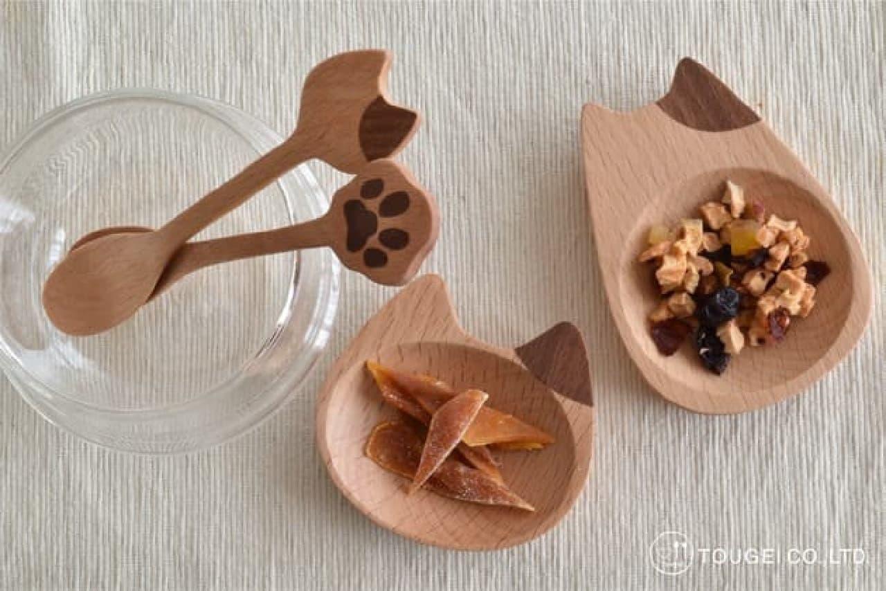 可愛いネコ型♪ 木製スプーン・豆皿などヴィレヴァンに -- 自宅をおしゃれカフェ風に
