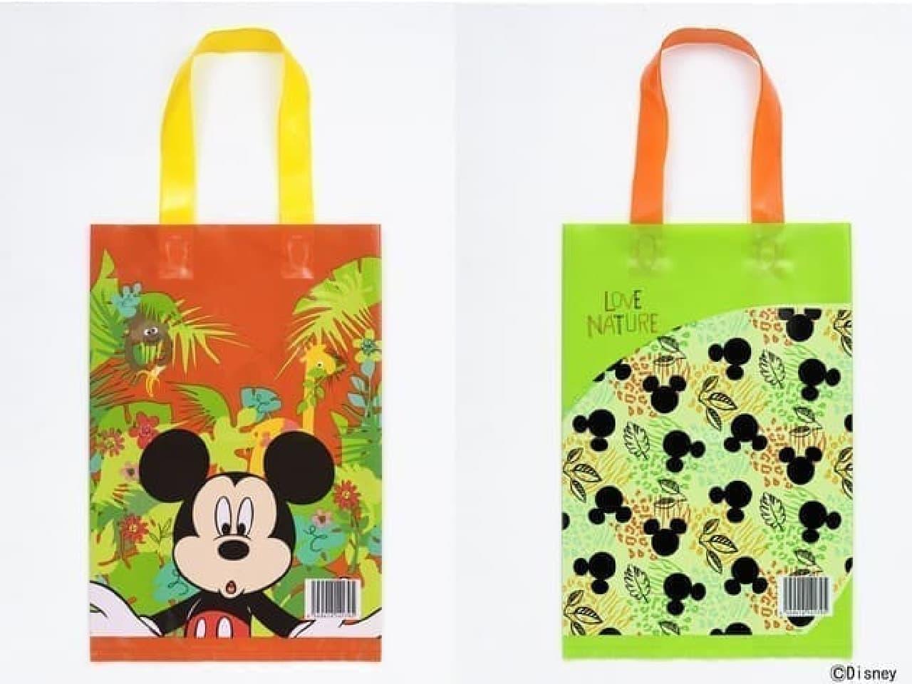 リサイクル原料を使った買い物袋 ディズニーデザイン