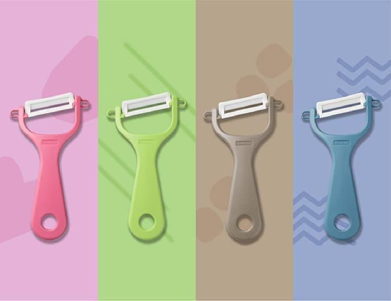 華やかなカラー♪ 京セラのピーラー&スライサー新商品 -- ナチュラルグリーン・ラテベージュなど