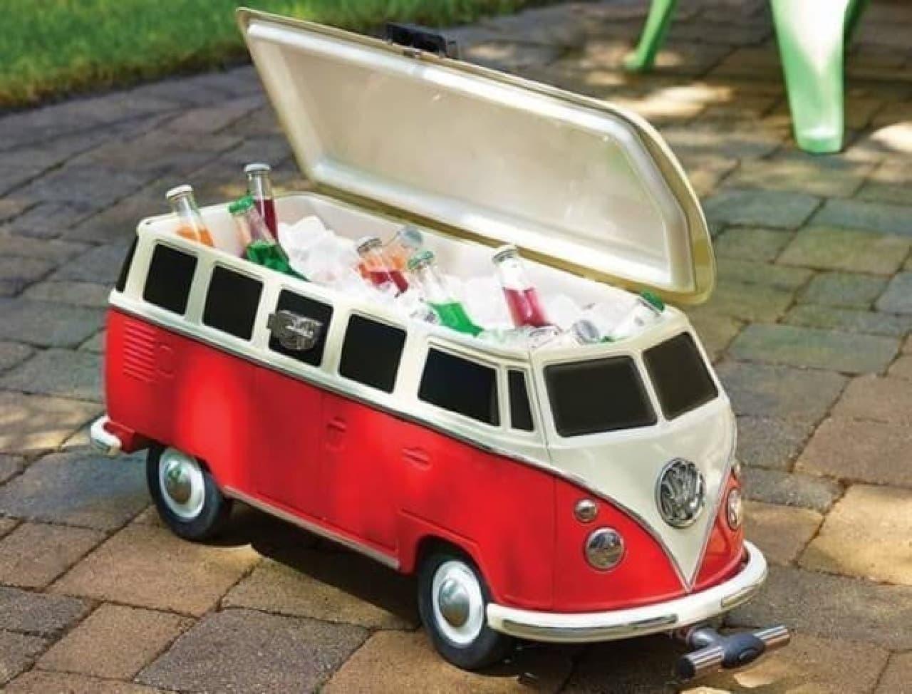 可愛いバス型♪「VW T1型クーラーボックス」第二世代 -- フォルクスワーゲン公式ライセンス商品
