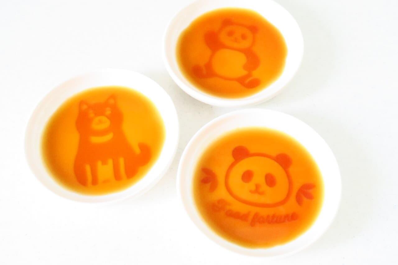 ダイソーの醤油皿(パンダ柄)、醤油皿(柴犬柄)