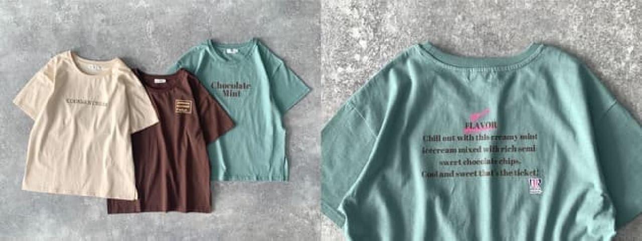 サーティワン アイスクリーム×LEPSIMのTシャツ -- バニラ・大納言あずきカラーなど