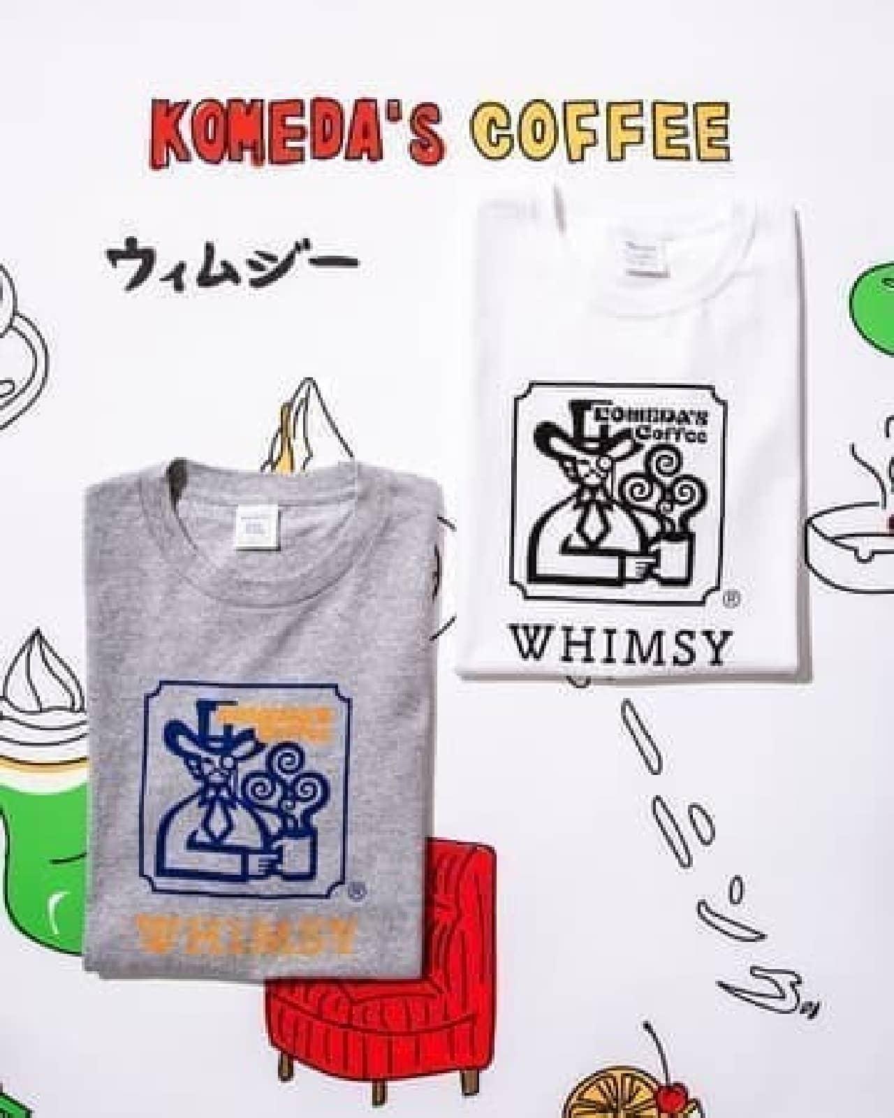 コメダ珈琲店×WHIMSY SOCKS×BEAMS Tコラボ!クリームソーダグラス柄Tシャツなど