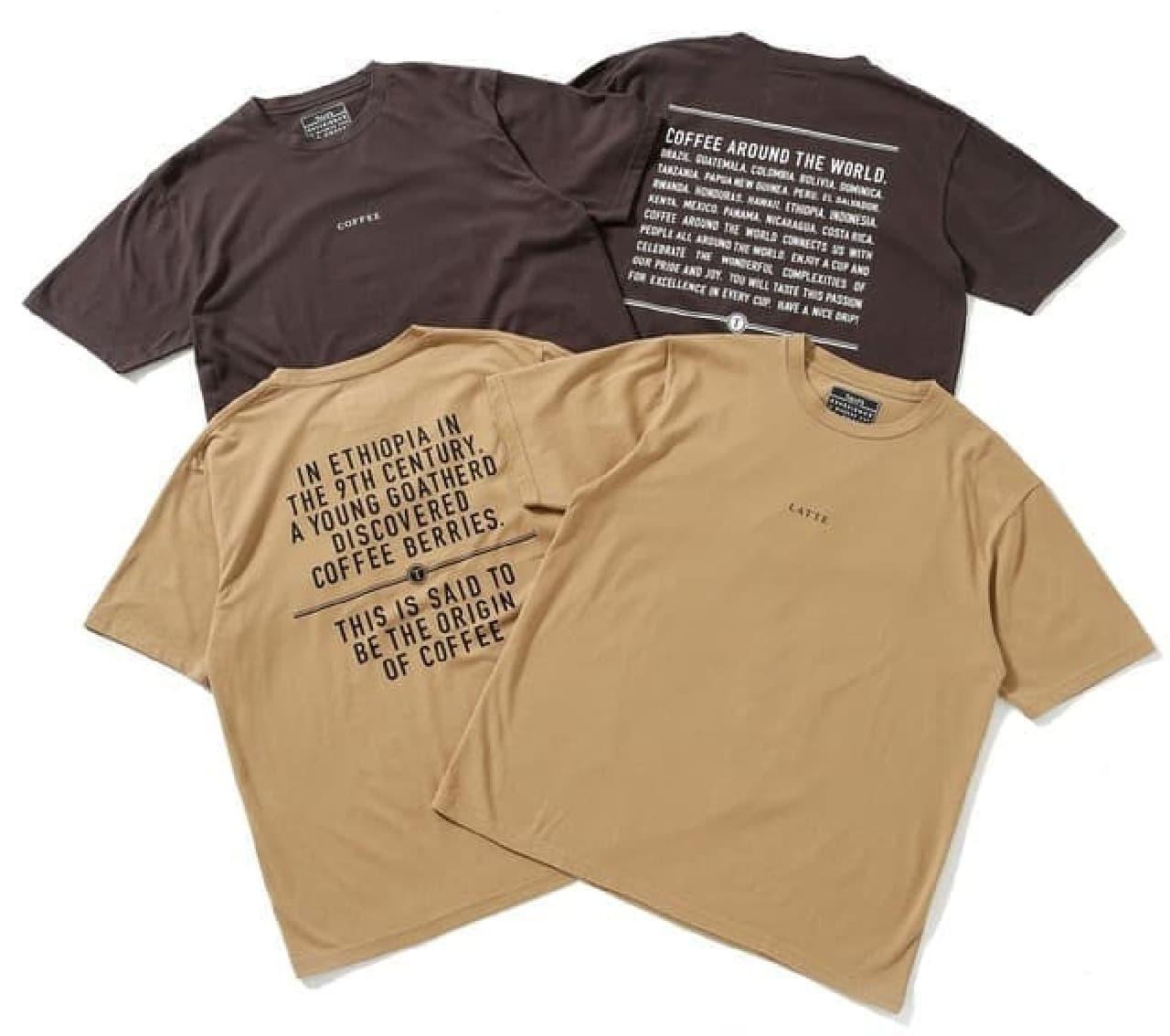 タリーズコーヒー×ナノ・ユニバースのTシャツ -- オーガニックコットン100%&コーヒー抽出殻で染色