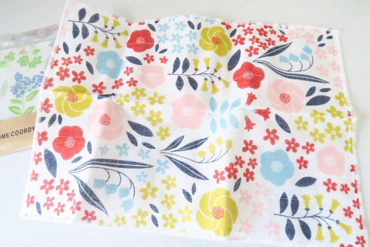 花&ハーブ柄がおしゃれ♪ イオン「かや織りふきん」高い吸水力のふんわり生地