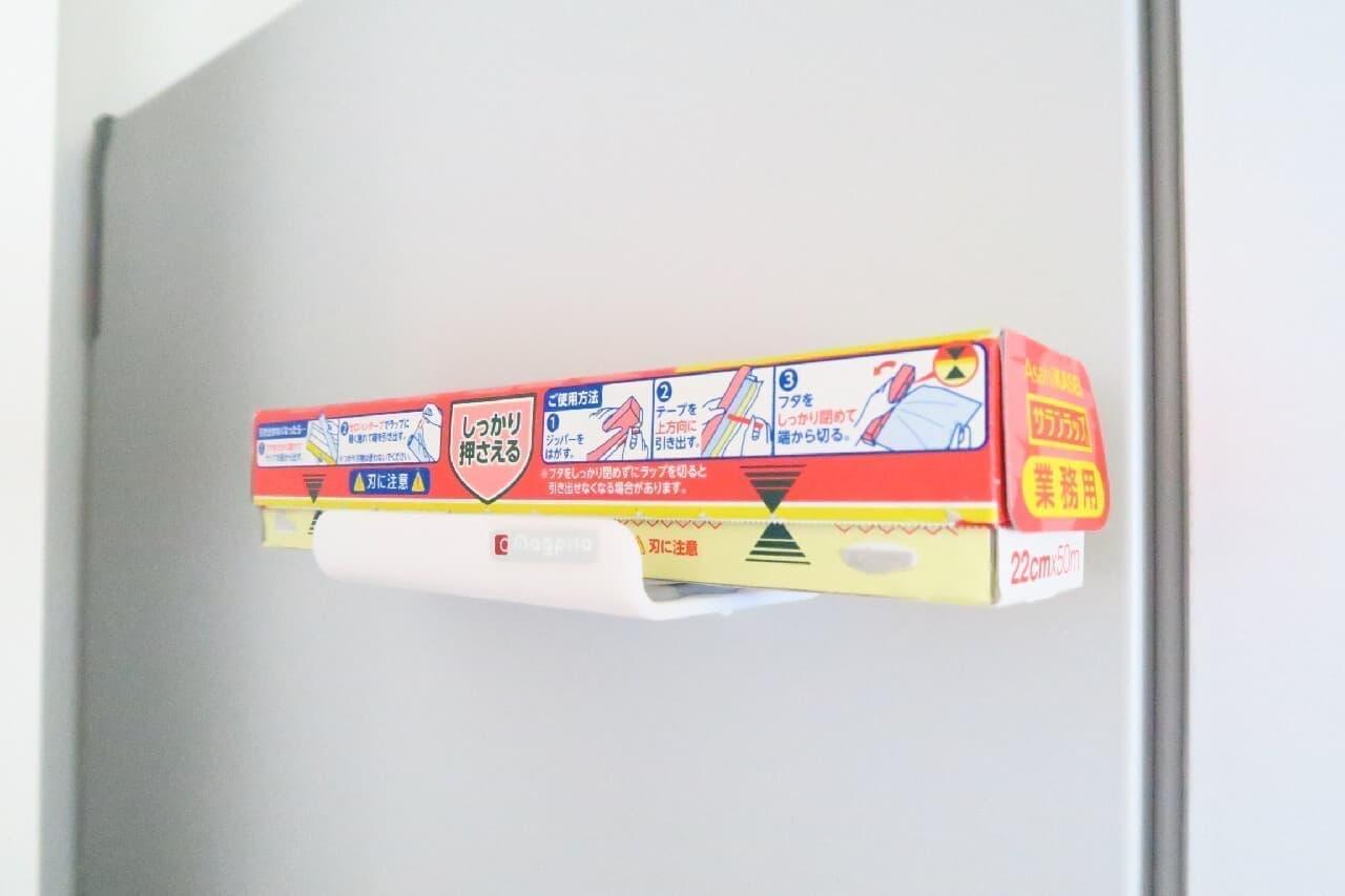 ダイソー「磁石ラップホルダー」で台所収納アップ!トレー&ワイドポケットも
