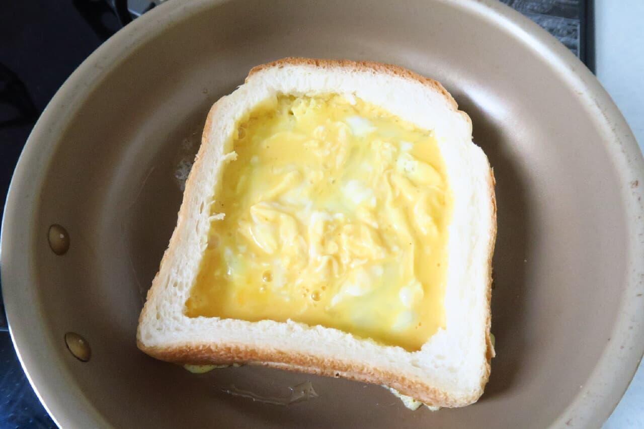 フライパンで簡単♪ オムレツトーストのレシピ -- 中からチーズがとろり