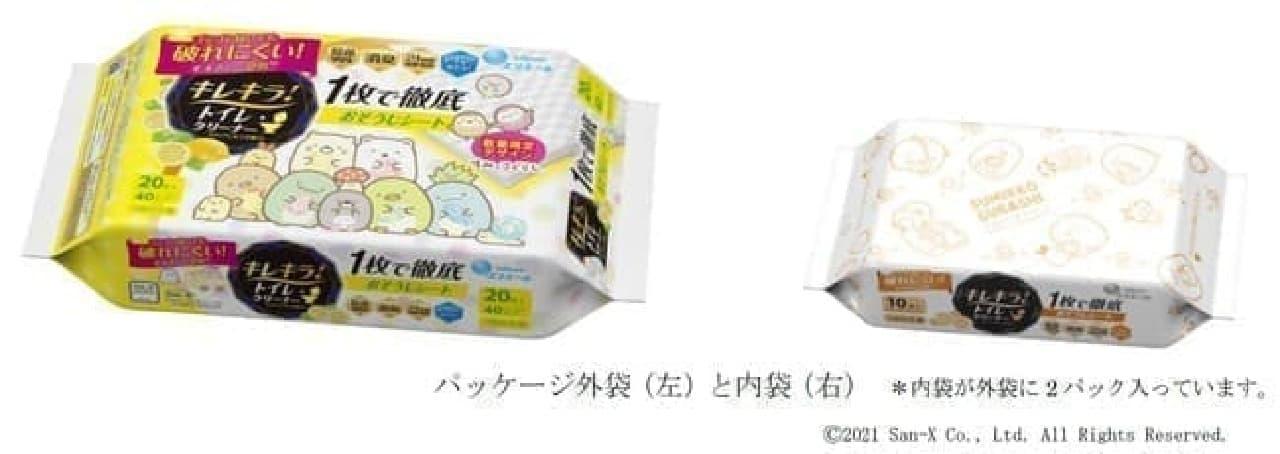 すみっコぐらしデザイン!「キレキラ!トイレクリーナー」限定パッケージ -- クリアレモンの香り