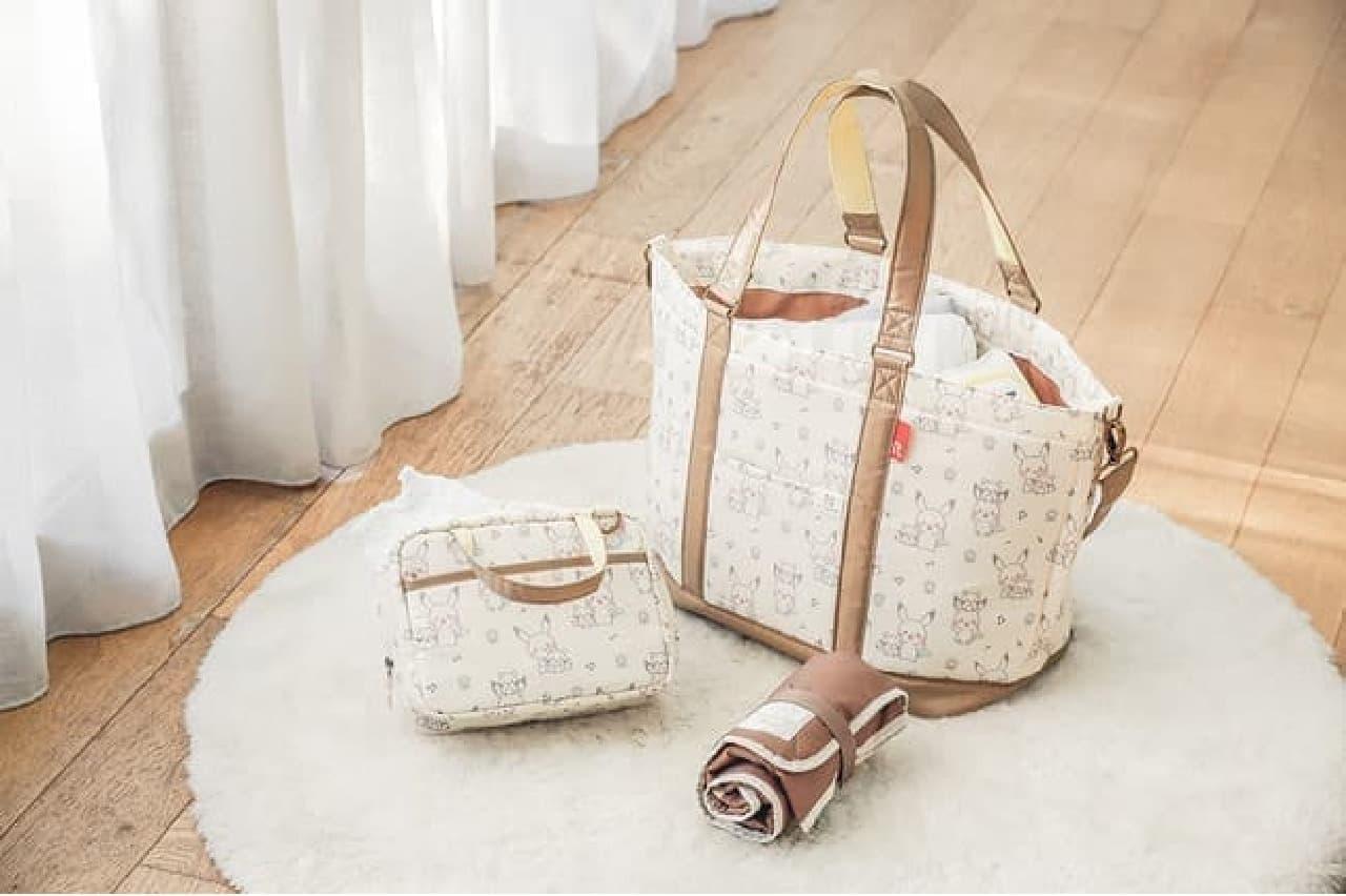 犬印本舗「モンポケ マミールー トートバッグ」ポケモン公式ベビーブランド初のマザーズバッグ