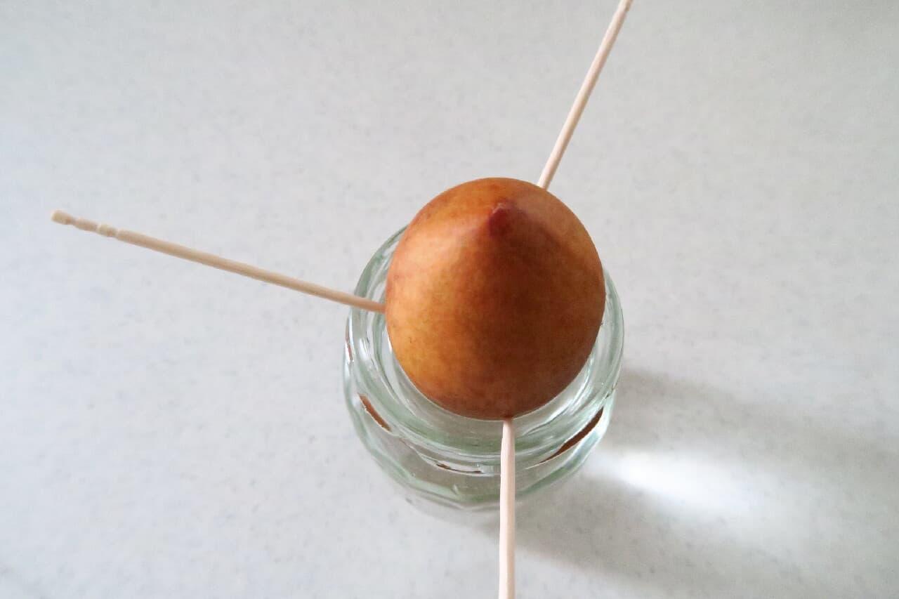ステップ3簡単&ぐんぐん育つ♪ アボカドの種の育て方 -- 空き瓶+爪楊枝で水耕栽培