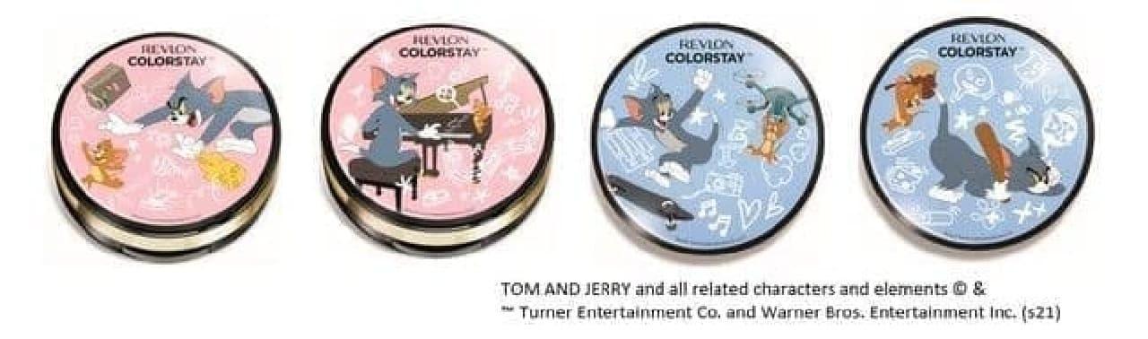 「レブロン カラーステイ クッション ロングウェア ファンデーション」「カラーステイ プレスト パウダー N」のトムとジェリーパッケージ