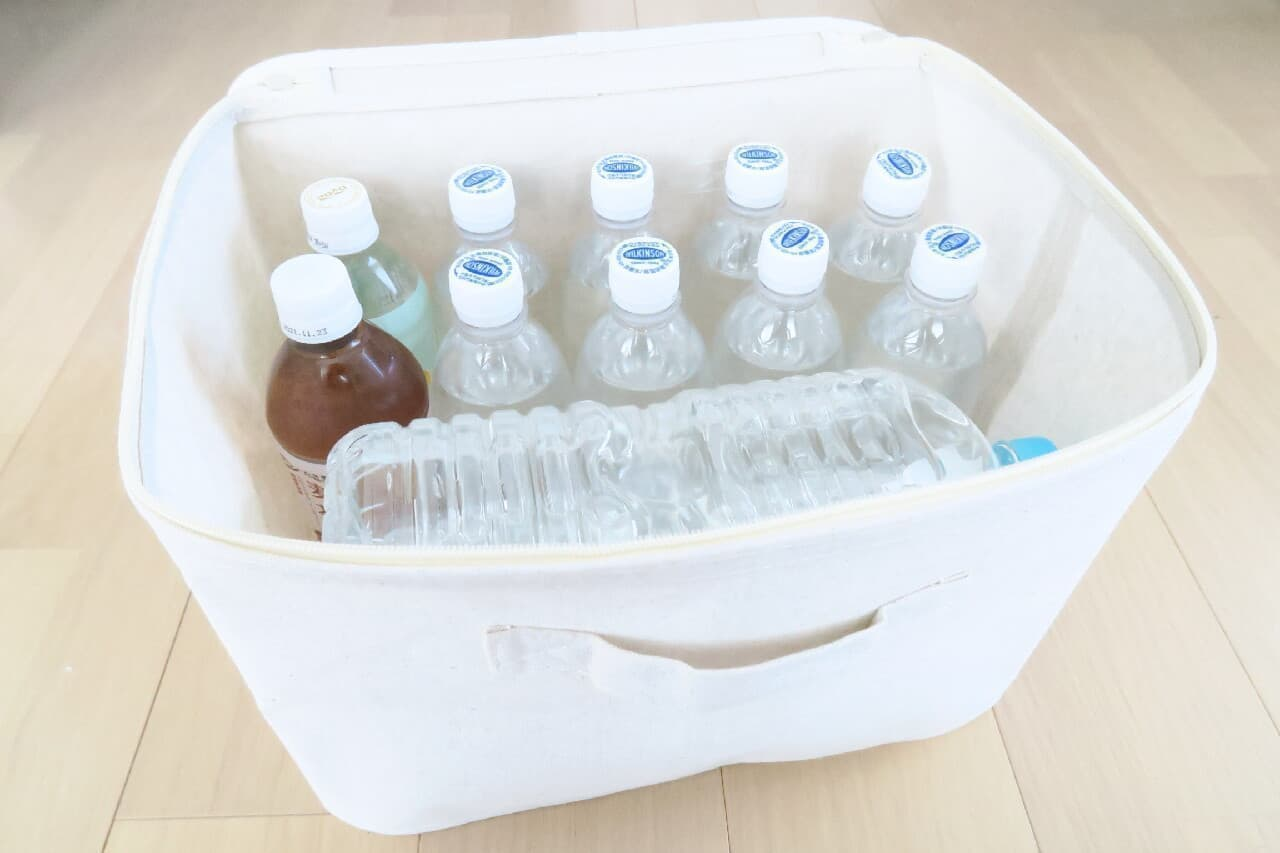 【無印】フタ付きソフトボックスをレビュー -- 飲料水・小型家電などの収納に