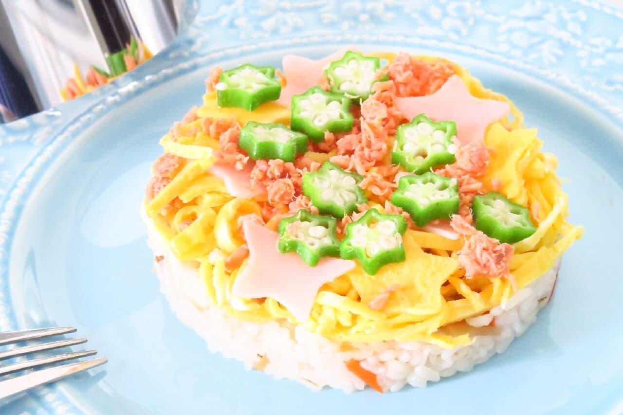 100均セルクルで簡単♪ お寿司ケーキの作り方 -- 誕生日祝い・七夕に