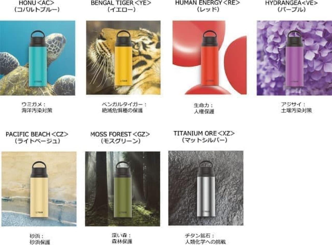 「タイガーカスタムボトル」からアウトドア向きモデル -- ぬれた手もすべりにくい塗装