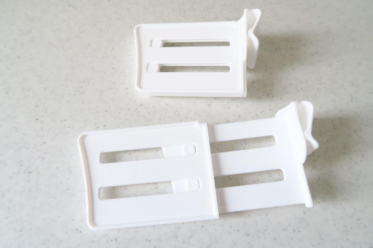 ごちゃつく調味料に!100均「冷蔵庫便利ポケット仕切り(伸縮式)」簡単設置&すっきり収納
