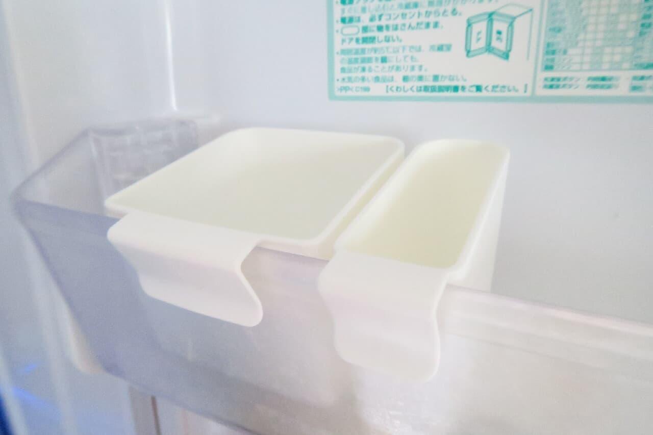 100均「冷蔵庫ポケットの仕切りになるケース」効率よく整理できる優秀アイテム
