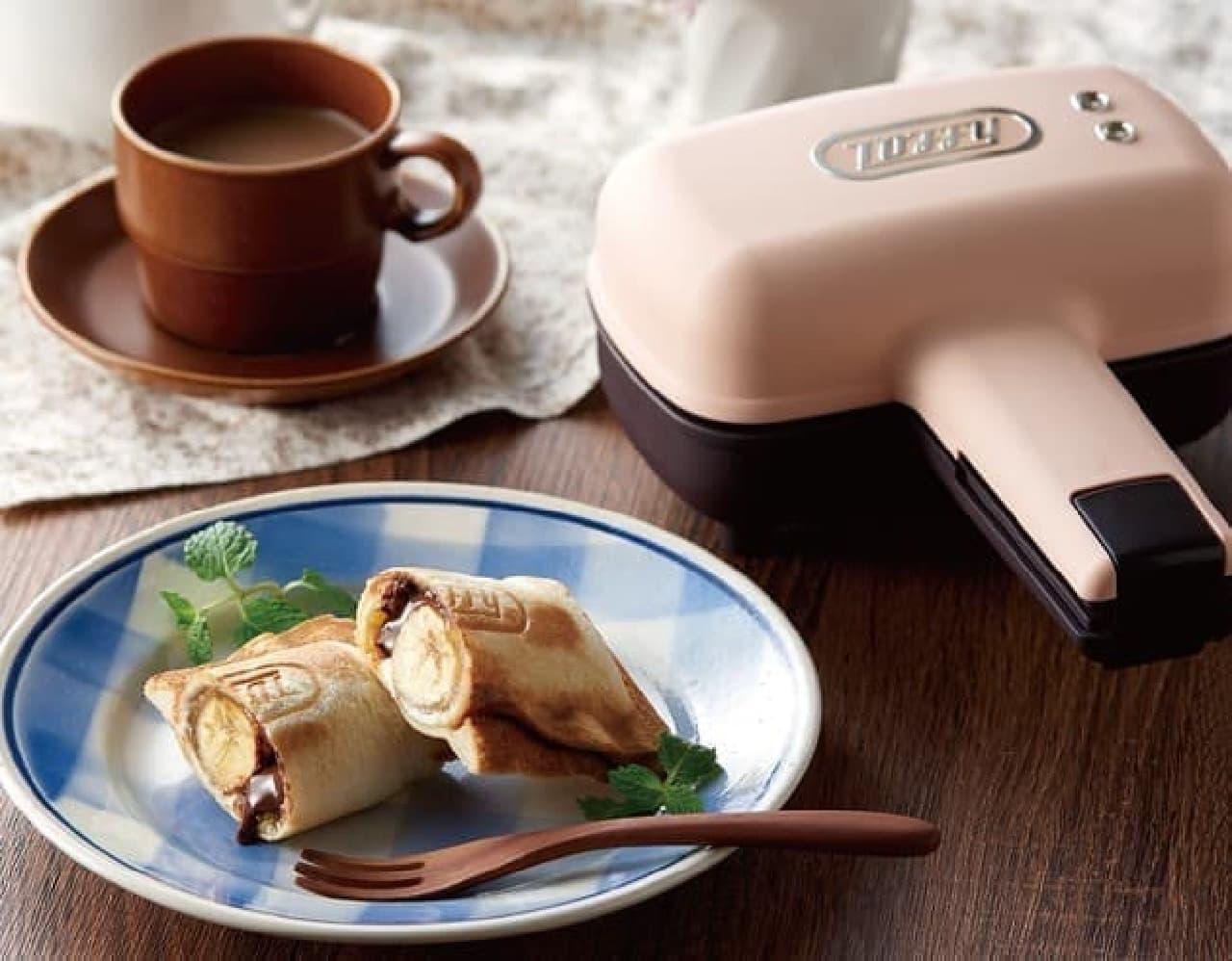 「Toffyハーフホットサンドメーカー」発売 -- 食パン1枚で作る食べきりサイズ