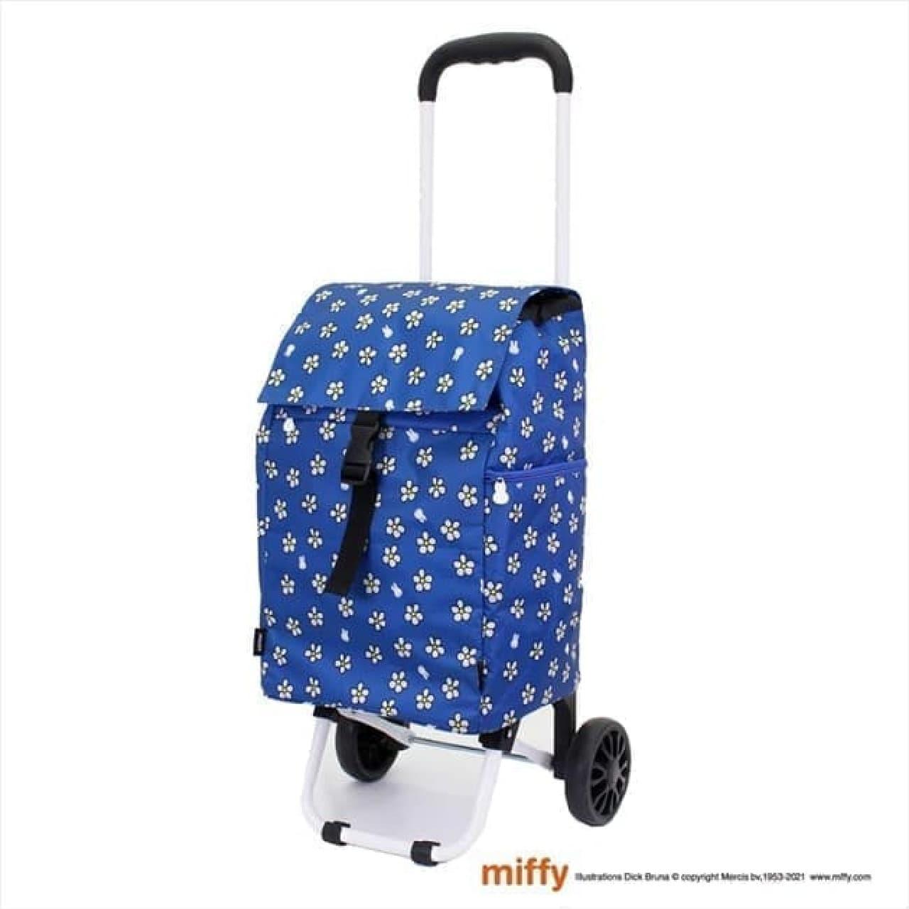 「【ミッフィー】保冷ショッピングカート」ヴィレヴァンに -- 可愛いフラワーブルー柄など